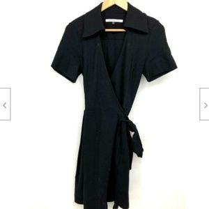 Diane Von Furstenberg Dress Size 8 Wrap V Neck